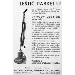 Leštič parket, DUDA - Alois Duda, Praha