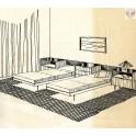 Ložnice LO-04, skříň, postele, stolky