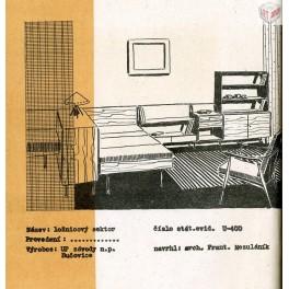 Obývací pokoj, U-400 (F. Mezulánik), Spojené UP závody n.p.