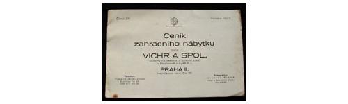 Ceník zahradního nábytku fi. Vichr a spol, vydání 1927