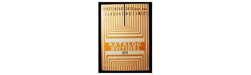 Osvětlovací sklo n.p., Val. Mez.: Katalog svítidel 1974